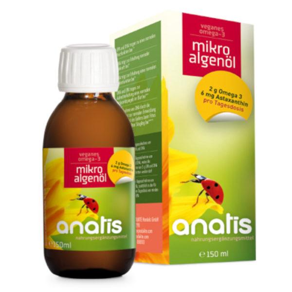 Anatis Mikroalgenöl Flasche Nahrungsergänzungsmittel Andreas Resch